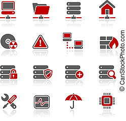 Network, Server and Hosting Redico - Vector icons for your...
