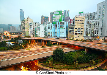 download area and overpass in hong kong