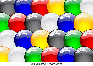 Set of vector clean glossy ball. Abstract background.