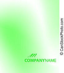 Abstract green and white background - vector illustration