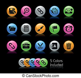 Web Interface Gelcolor - The EPS file includes 5 color...