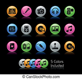 Media and Entertainment Gelcolor - The EPS file includes 5...