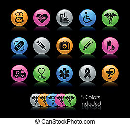 Medicine and Heath Care Gelcolor - The EPS file includes 5...