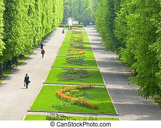 """Central park """"Flora"""" in Olomouc city - Czech republic"""