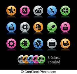 Web 20 Gelcolor - The EPS file includes 5 color versions for...