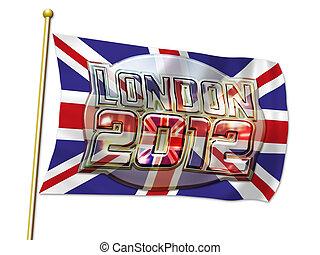 London 2012 Oval Flag