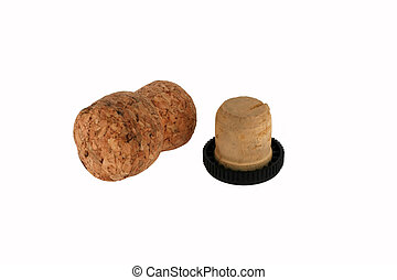 cork on a white background