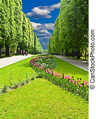"Central park ""Flora"" in Olomouc city - Czech republic"
