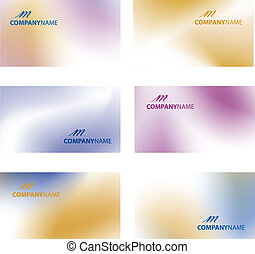 Business card vector illustration.