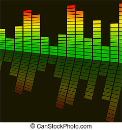 Vector illustration - abstract background digital equalizer