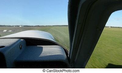 little aeroplane in aerodrome