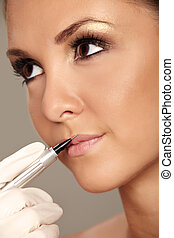 Permanent make-up - Professional permanent makeup applying