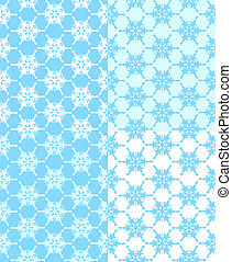 Vector illustration of a set of  seamless snowflakes background. Christmas theme