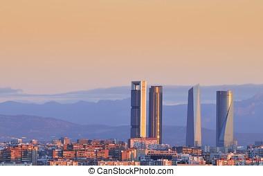 Madrid. - Sunrise on Madrid, spain.