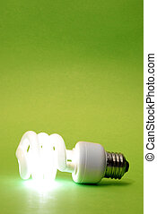 Green Eco Lightbulb - A modern eco friendly light bulb that...