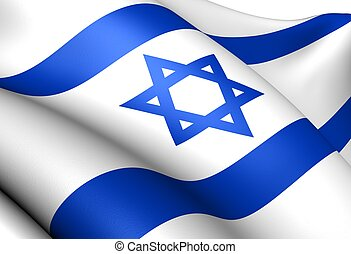 Flag of Israel. Close up.