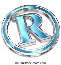 Registered Trademark Symbol - Shiny Metallic Registered...