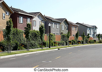 Houses - Row of houses in suburban neighborhood