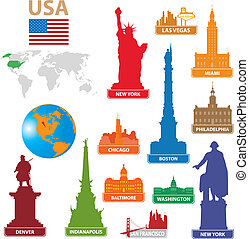 Symbols city USA Vector illustration for you design