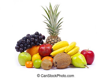 fruits  - Composition with fruits isolated on white