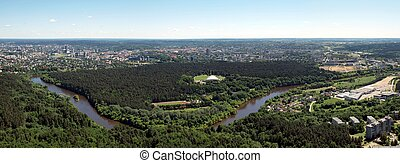 City center - Vilnius - capital of Lithuania View to city...