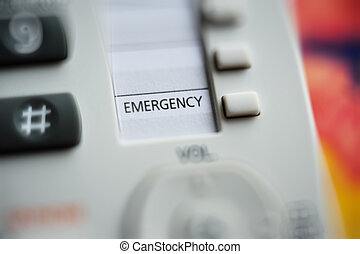Emergency button - Cose-up of emergency button on a modern...