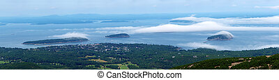 Foggy Day at Frenchman Bay - Bar Harbor watches as the moist...