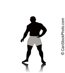 The Man. - The Man of the atheletic physique, on white...