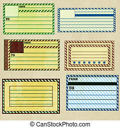 Vintage Paper Address Labels