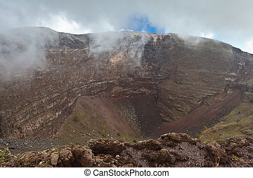 Vesuvius crater  - View of Vesuvius crater in Naples, Italy