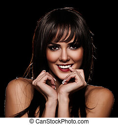 Beautiful smile - Brunette lady with a beautiful smile...