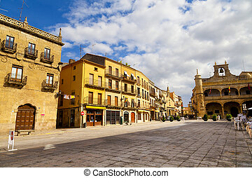 Plaza Mayor Square, Ciudad Rodrigo, Salamanca, Spain