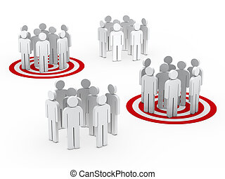 Trabalho equipe, Grupo, círculo, vermelho, tarbet