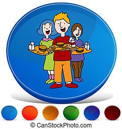 School Lunch Program Gemstone Button Set