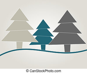Christmas tree blue gray abstract blue ribbom