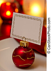 Christmas place setting with card - Elegant Christmas place...