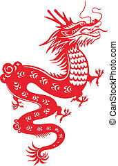 Chinese Dragon - Dragon for the year 2012. Traditional...
