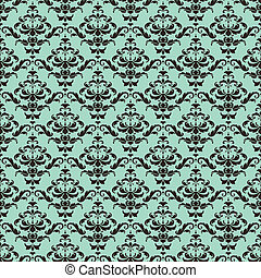 Seamless Damask Wallpaper - This is a resizable seamless...