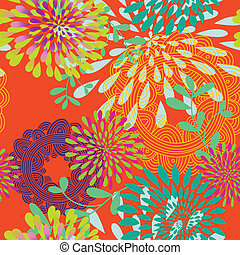 Seamless Swirls and Circles Pattern - This is a resizable...