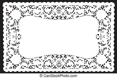 Lace Doily Placemat - Vintage white lace doily place mat for...