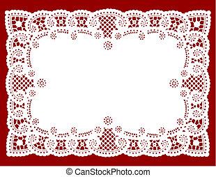 Vintage Lace Doily Placemat - Vintage white lace doily place...