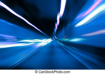 Abstarct motion blur in tunnel