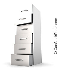 Filing Cabinet - 3D rendered Illustration. A filing cabinet....
