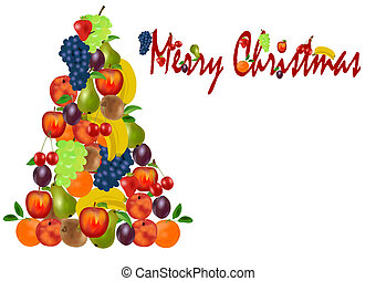Christmas tree from fruit - Unusual christmas tree with...