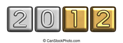 New Year's 2012 silver-gold symbol