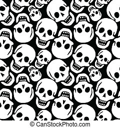 skulls pattern, abstract seamless texture; vector art...