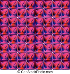 pyramidal pattern, abstract seamless texture; vector art...