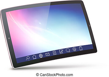 tablet PC - Vector illustration of classy tablet PC with...