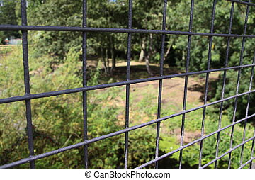 wire fencing - strong wire fence used as a security boundery...