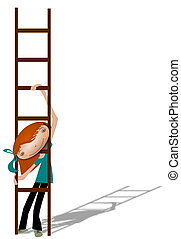 Girl with a ladder.
